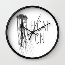 Float On - Jellyfish Wall Clock