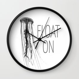Float On - Jellyfish Wall Clock