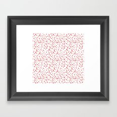 PolkaDots-Red on White Framed Art Print