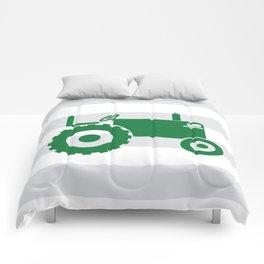 Green tractor Comforters