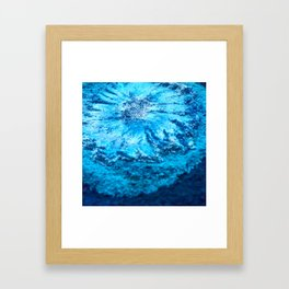 The Muse - Blue Bloom Framed Art Print