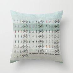 Pro Cycling Teams Throw Pillow