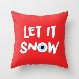 let it snow (evil eye) Throw Pillow