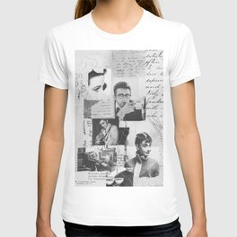 Creative Portrait Collage of 1950's Icons T-shirt