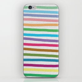 Colorful stripes pattern iPhone Skin