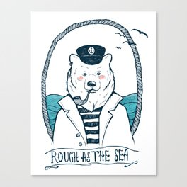 Seabear - Rough at the Sea Canvas Print
