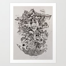 Flighless bird Art Print