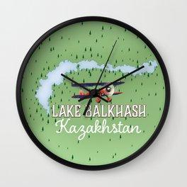 Lake Balkhash Kazakhstan Wall Clock