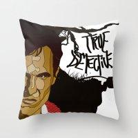 true detective Throw Pillows featuring True Detective by Vito Fabrizio Brugnola