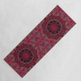 Raspberry Wisteria Mandala Yoga Mat