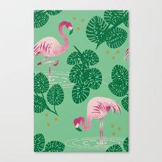 Flamingo Friends Canvas Print