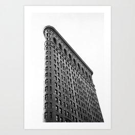 Flatiron Black and White #2  Art Print