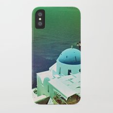 Blue Dome Church, Santorini: Shot with a Nikon FM2 and Revolog 600nm film iPhone X Slim Case