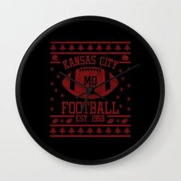 Kansas City Football Fan Gift Present Idea Wall Clock