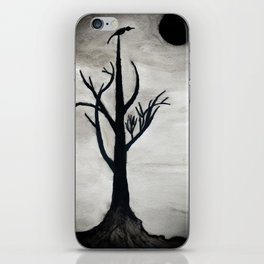 lonely night tree iPhone Skin