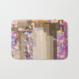 Floral Abstract City Bath Mat