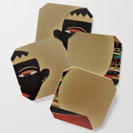 Ebony and Ivory Crown Coaster