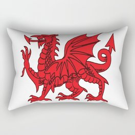The Red Dragon or Y Ddraig Goch Isolated Rectangular Pillow