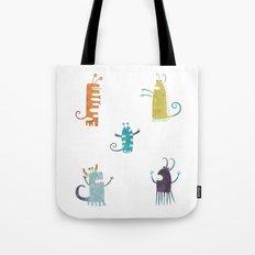 Secretly Vegetarian Monsters Tote Bag