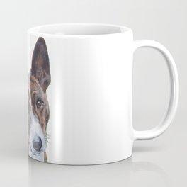 beautiful Basenji dog portrait art painting by L.A.Shepard Coffee Mug