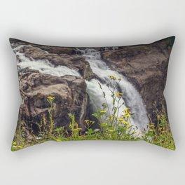 Wildflowers at the Falls Rectangular Pillow