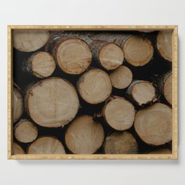 Logs Serving Tray