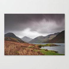 Rain clouds over Scafell and Great Gable. Wastwater, Cumbria, UK. Canvas Print