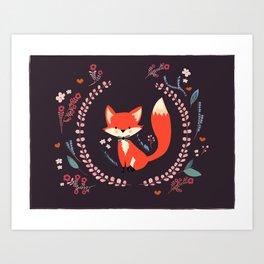 Cute Little Fox Art Print
