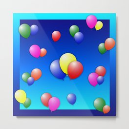 Balloon Fun Metal Print