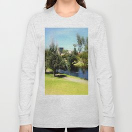 Adelaide Torrens River and CBD Long Sleeve T-shirt