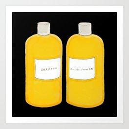 Shampoo & Conditioner (black) Art Print