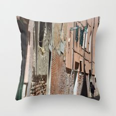 Into the shadows Throw Pillow