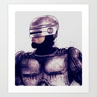 robocop Art Prints featuring ROBOCOP by Jef2D