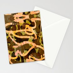 Freedom Peace Love + War Stationery Cards