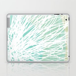 Doodle Flowers in Mint by Friztin Laptop & iPad Skin