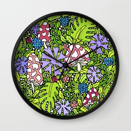 STRANDED IN YOUR JUNGLE Wall Clock