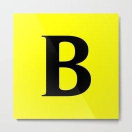 B MONOGRAM (BLACK & YELLOW) Metal Print