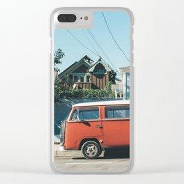 Santa Cruz car Clear iPhone Case