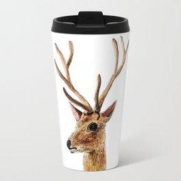 deer watercolor painting Travel Mug