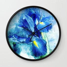 Underwater Iris Wall Clock