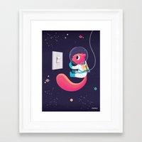 big bang Framed Art Prints featuring big bang by raeioul
