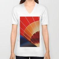 hot air balloon V-neck T-shirts featuring Hot Air Balloon by DistinctyDesign