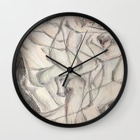 cuddle Wall Clocks featuring Cuddle  by Melissa Roberts