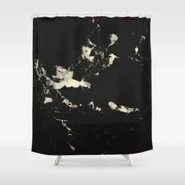 Black Marble and Blush Yellow #1 #decor #art #society6 Shower Curtain