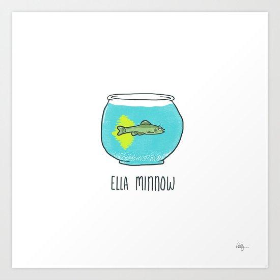 Ella Minnow Accident  Art Print