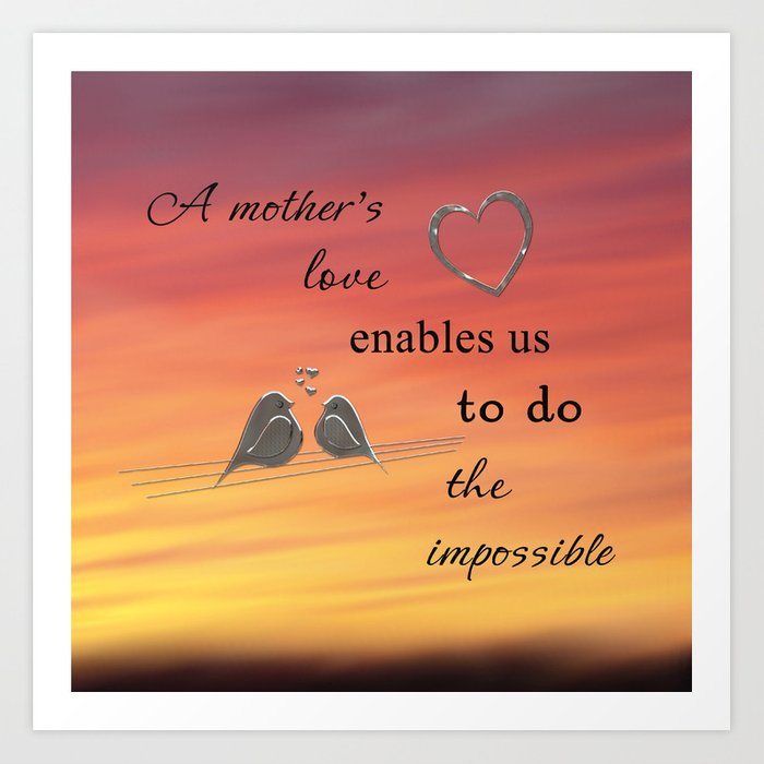 A Mother's Love Art Print