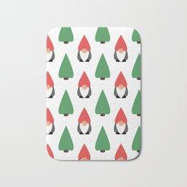 Christmas Gnomes & Trees Bath Mat