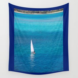 Perfect Blue Sailing Day Wall Tapestry