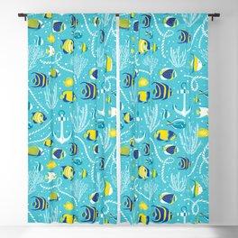 Deep Blue Sea Aqua Blackout Curtain