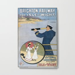 Vintage poster - Coast Line Rail Motor Services Metal Print